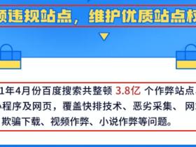 2021年4月百度搜索整顿违规站点,大量网站被降权